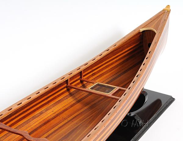 Wooden Scale Model Canoes kayaks Row Boats