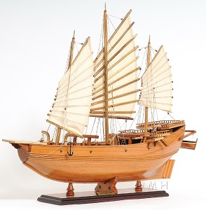 Chinese Junk Wooden Pirate Model Ship Sailboat Boat