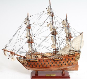 Wooden Scale Model HMS Victory Tall Ship