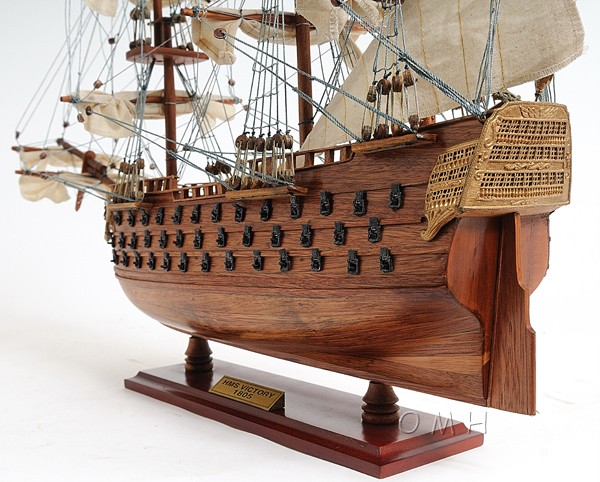 HMS Victory Tall Ship Wood Model Sailboat
