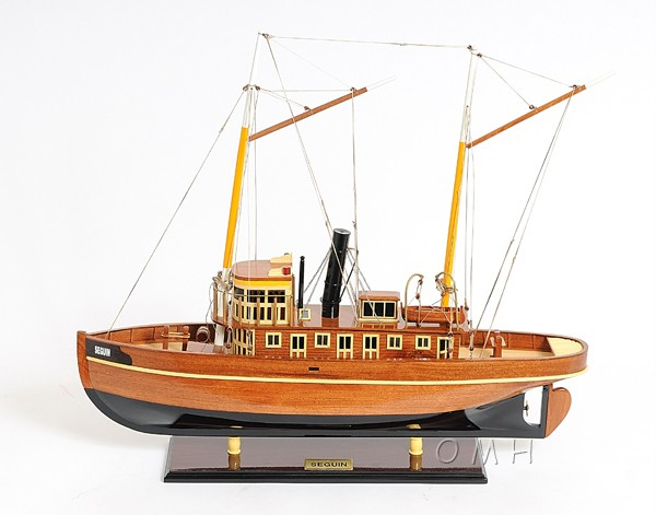 Seguin Steam Tug Boat  Wooden Model Tugboat