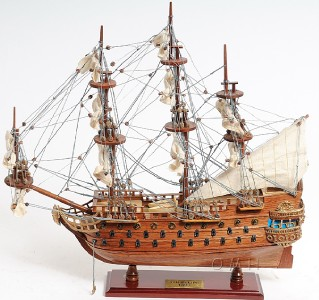 Wooden San Felipe Spanish Galleon Tall Ship Model