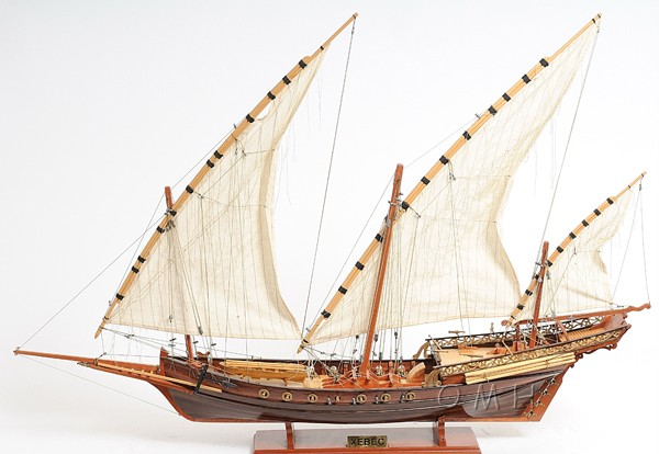 Xebec Wooden Pirate Model  Ship