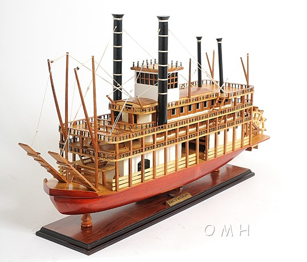 King Mississippi Riverboat Steamboat Wood Model Boat