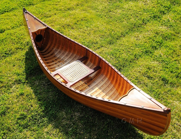 Real Cedar Wood Strip Built Canoes Kayaks For Sale