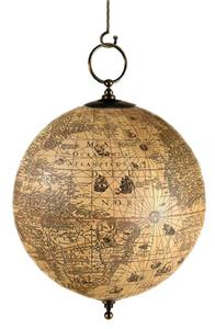 JODOCUS HONDIUS ANTIQUE OLD WORLD GLOBE MAP HANGING