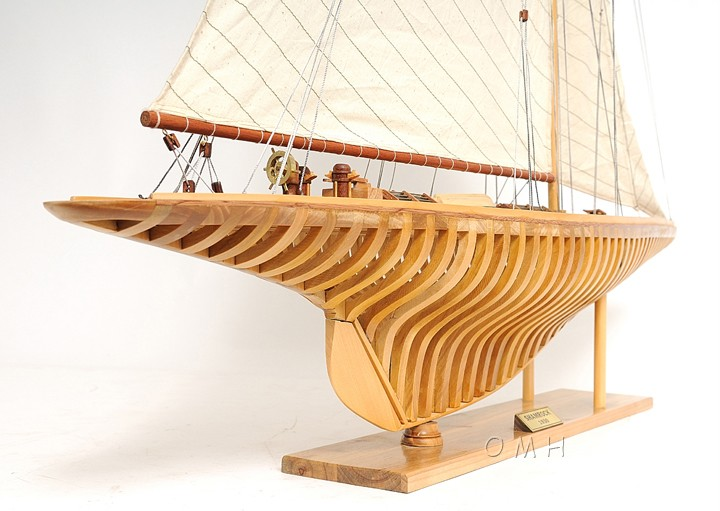 Wooden+Model+Sailboat+Plans ... Exposed Ribs Open Hull Wood Model 38 ...