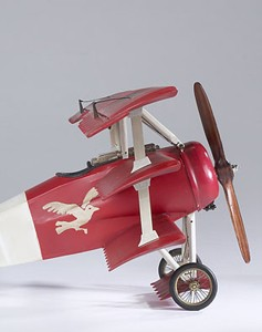 Red Baron's WWI Fokker Triplane Airplane Wood Model