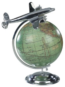 Lockheed L 1049 Super Constellation Desktop Globe Model