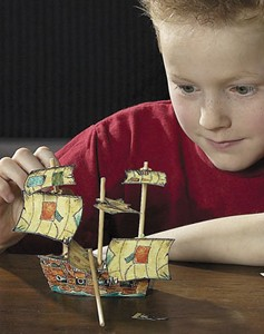 Treasure Chest Bank Kids Build Wooden Pirate Ship Kit