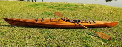 Cedar Wood Strip Built Grande Kayak Wooden Boat