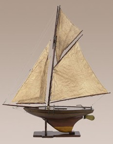 Victorian Pond Yacht Model Sailboat