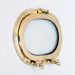 Nautical Solid Brass Ship's Porthole Window Oval