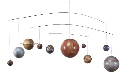 Solar system planet globe mobile hanging astronomy decor - Hanging planets decorations ...