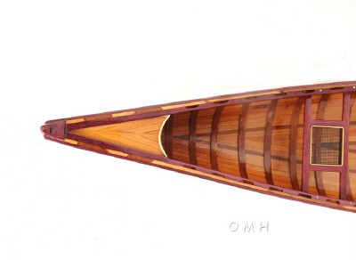 Cedar Strip Built Canoe Model With Ribs