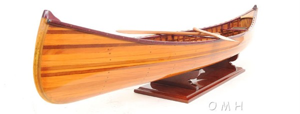 Cedar Strip Canoe Model Ribs Wood Boat