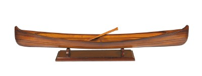 Saskatchewan Canoe Wooden Strip Built Model Boat