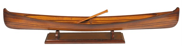 Saskatchewan Canoe Wooden Strip Built Model Authentic Models
