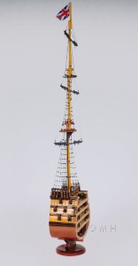 HMS Victory Cross Section Wooden Ship Model