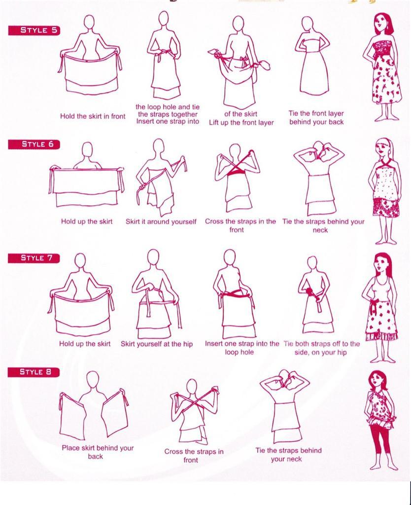 Vintage Silk Wrap Reversible Magic Skirt Sarong Pareo Tube ...