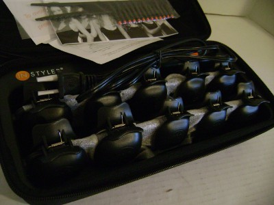 by Instyler Ceramic Clam Shells Curling Set Hair Curler New