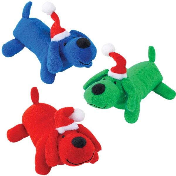 Dog-LIL-YELPERS-YELPER-CHRISTMAS-Dachsund-Toy-Pet-Toys-LOT-Xmas-Puppy-Santa-Hat