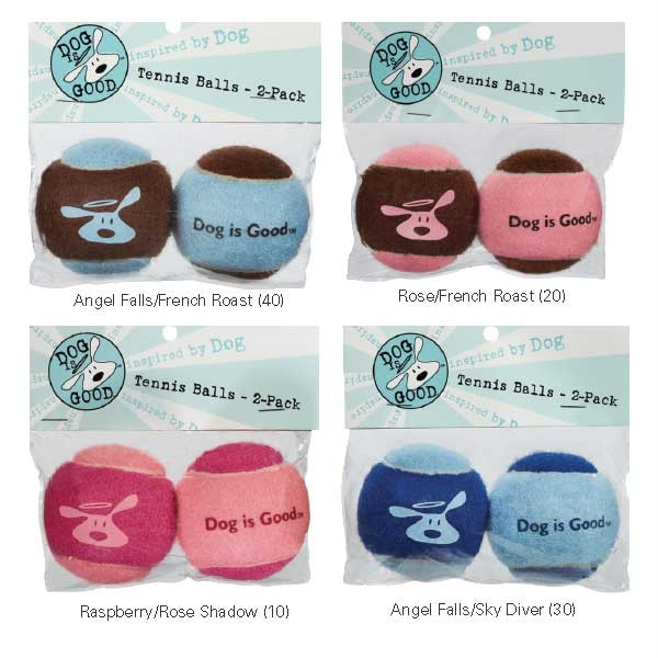 Dog-Is-Good-TENNIS-BALLS-Ball-Throw-Fetch-Puppy-Toy-Pet-Pup-Chew-Toys-Pink-Blue