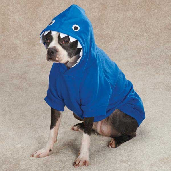 Dog-LIL-039-MONSTER-HOODIE-Halloween-Sweatshirt-Costume-Clothes-XS-XL-BLUE-PINK