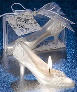 30 Wedding Shoe Candle Cinderella Slipper  Bride Favors