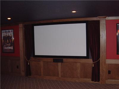 Projector Screen Home Theater Movie Ratio 130 Fixed Wall Hd Cinemascope Ebay