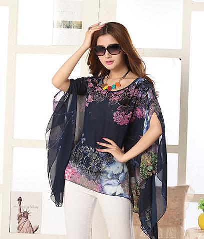 Black Chiffon Kimono Cardigan