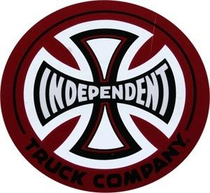 INDEPENDENT-TRUCKS-COMPANY-FOIL-SKATEBOARD-DECAL-STICKER-for-deck-helmet-cruiser