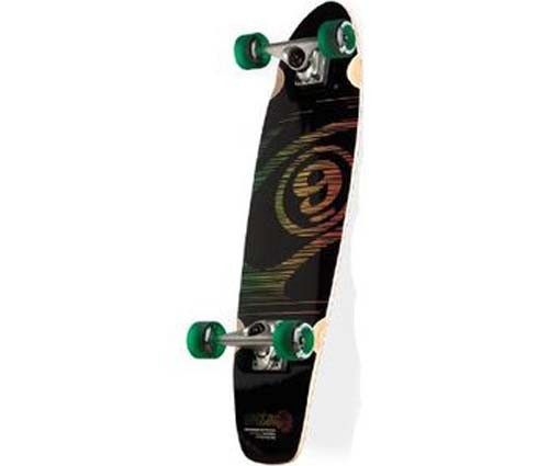 sector 9 black rasta mini cruiser longboard skateboard complete ebay. Black Bedroom Furniture Sets. Home Design Ideas