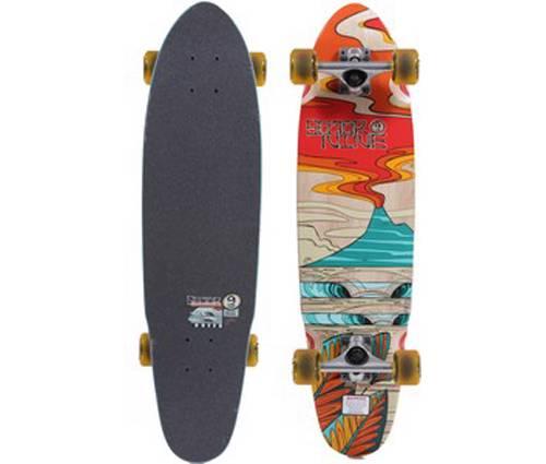 sector 9 31 5 lava flow mini cruiser longboard skateboard complete ebay. Black Bedroom Furniture Sets. Home Design Ideas