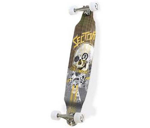SECTOR-9-40-5-YELLOW-CARBON-DECLINE-TOP-GEAR-LONGBOARD-SKATEBOARD-COMPLETE
