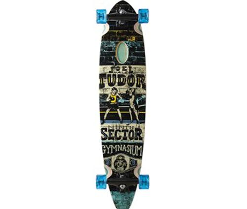 SECTOR-9-38-3-BLUE-TUDOR-GYM-CLASSIX-LONGBOARD-SKATEBOARD-COMPLETE-surf-NEW
