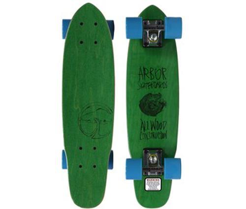 ARBOR-23-5-034-WOODY-GREEN-MINI-CRUISER-SKATEBOARD-COMPLETE