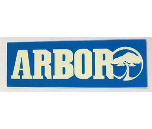 ARBOR-LOGO-SMALL-DECAL-STICKER-COLOUR-VARYS-SKATEBOARD-SET-OF-2-stickers