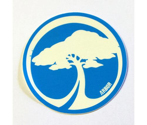 ARBOR-TREE-LOGO-DECAL-STICKER-SKATEBOARD-set-of-2-stickers-sizes-colours-vary