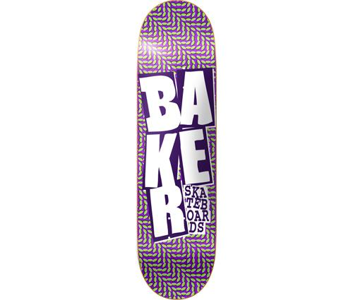 About baker stacked chill wave 8 12 quot purp grn wht skateboard deck