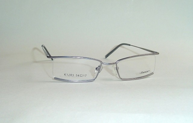 target semi rimless strong silver eyeglass frames