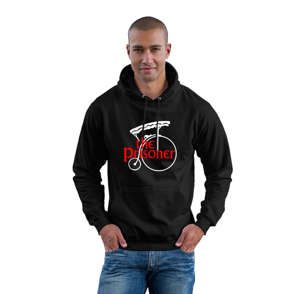 THE-PRISONER-HOODY-NUMBER-6-PENNY-FARTHING-ADULT-UNISEX-MENS-BLACK-HOODIE-S-2XL