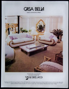 Casa Bella Italian Furniture Magazine Print Ad