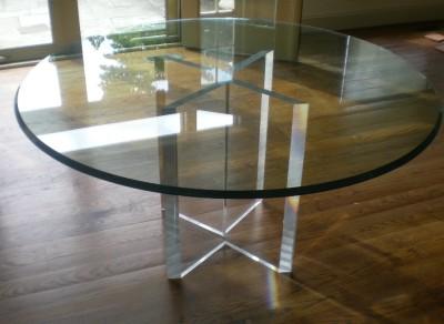 JEFFREY BIGELOW ACRYLIC FURNITURE 60 IN ROUND GLASS TOP ...