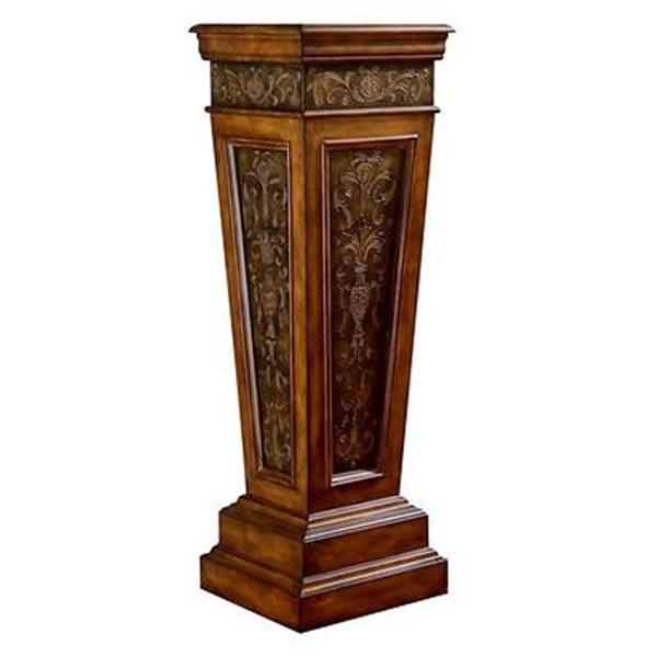 Wood metal hall column plant stand display pedestal - Column pedestal plant stand ...