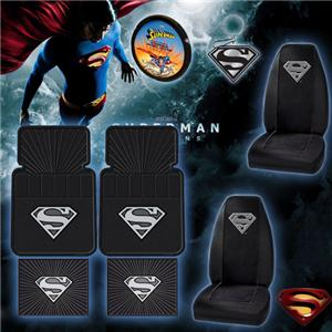 8pc Superman Car Floor Mat Seat Covers Set Shipping Included ...