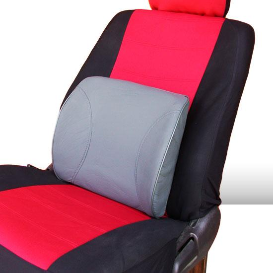 Portable Synthetic Leather Lumbar Seat Cushion Support For All Seats