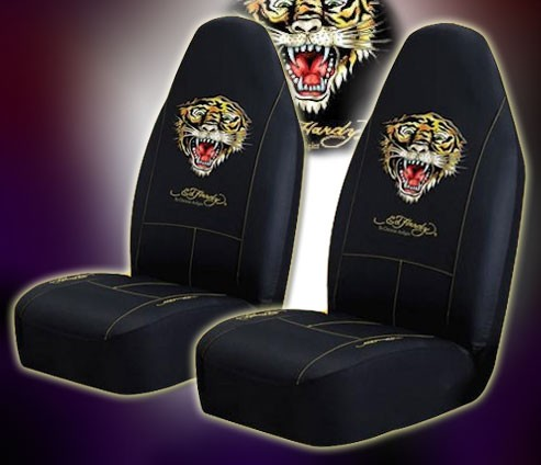 Ed Hardy Tiger Car Mats Seat Covers Steering Wheel NEW
