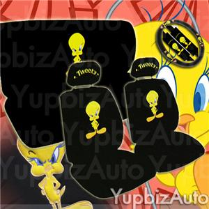 new tweety bird car seat covers steering wheel set ebay. Black Bedroom Furniture Sets. Home Design Ideas