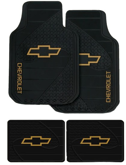 NEW 9PC CHEVY LOGO CAR TRUCK SEAT COVERS FLOOR MATS SET